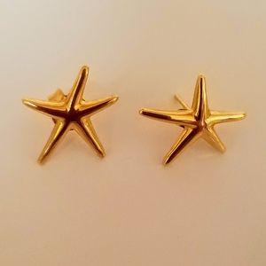 14Kt Gold Starfish Earrings